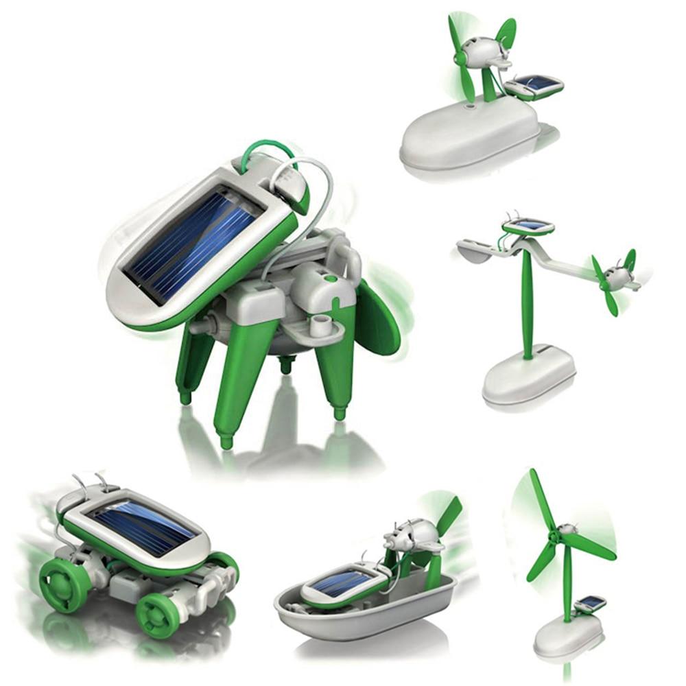 6 In 1 Creativity toy Power Solar Transformation Robot DIY ...