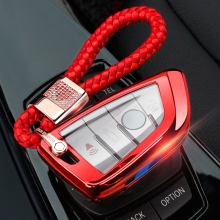 Soft TPU Key Fob Case with Chain For BMW Cover Full Protection for 3 5 Series X1 X5 X6 M5 M6 and girls