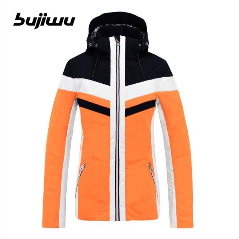 2019 Bujiwu femmes veste de Ski Snowboard veste coupe-vent imperméable à l'eau thermique sports de plein air Ski vêtements femme manteau Snowboard