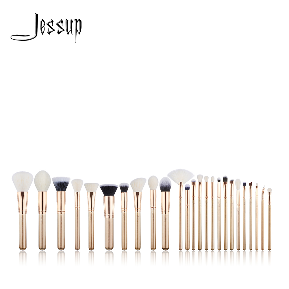 NEW Jessup Brushes 25PCS Golden / Rose Gold Makeup brushes set Beauty tools Make up brush POWDER FOUNDATION EYESHADOW CONCERLER jeruan 7 lcd video doorbell voice video recording intercom system kit 2 monitors waterproof password access mini camera 1v2