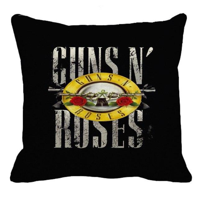 XUNYU Americano Leggenda Rock Band Guns N 'Roses Decorazione Federa Cuscino Divano Biancheria Mezzo Federa XL033