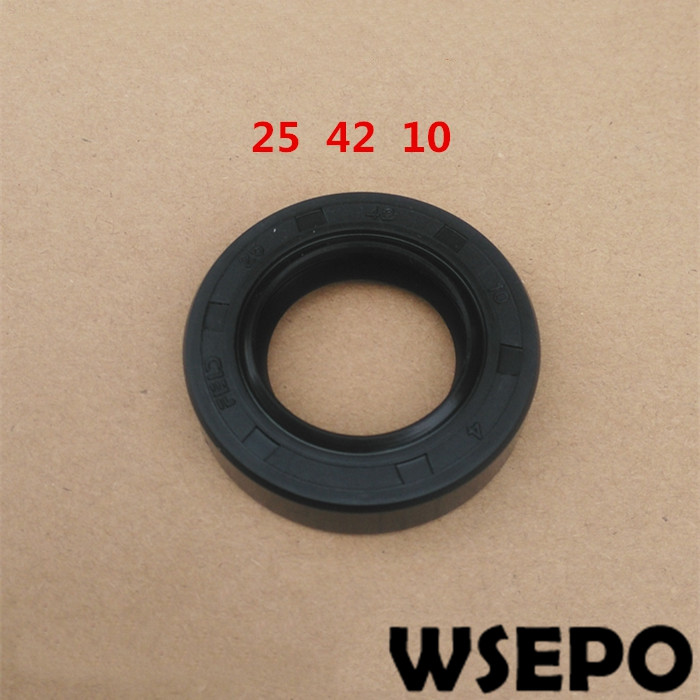 Top Quality! Air Compressor Oil Seal (25*42*10 mm) fits for 4100/4102 4 Cylinder Water Cooling Diesel EngineTop Quality! Air Compressor Oil Seal (25*42*10 mm) fits for 4100/4102 4 Cylinder Water Cooling Diesel Engine