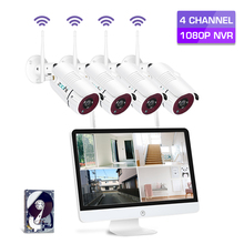 Zoohi 4CH 8CH CCTV System Wireless 1080P 15.6 Inch NVR Security Camera System With 2MP Outdoor Wifi IP Camera Surveillance Kit