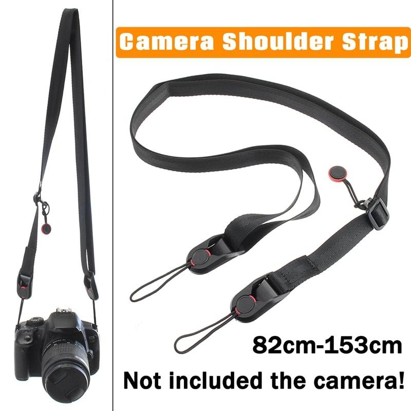 цена на Leory Universal 82-153cm Camera Leash Strap Sling Buckle Should Strap for GoPro DSLR SLR Camera Shoulder Neck Hand Strap