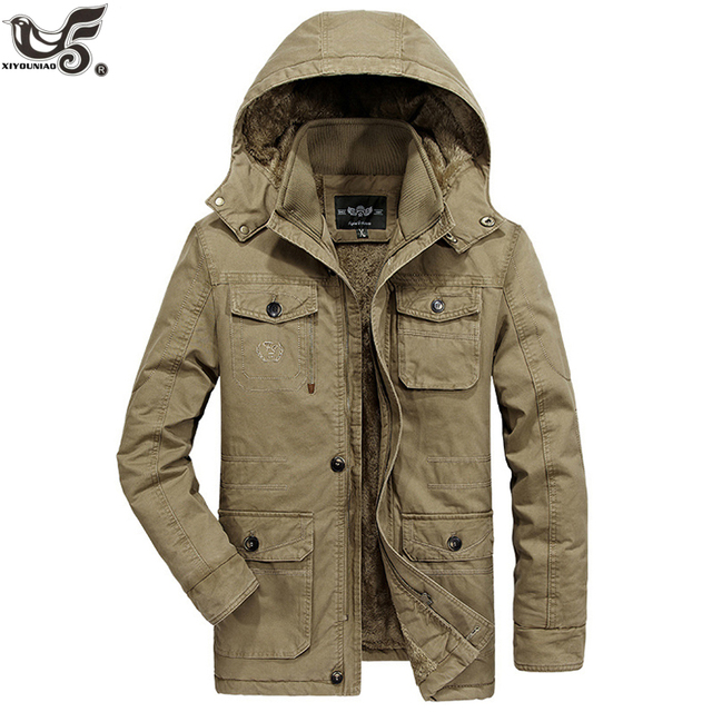 Get Discount Price XIYOUNIAO plus size L~7XL 8XL winter Jacket men Warm Thicken Coats Washed Cotton Padded Fashion Parkas Elegant Business overcoat