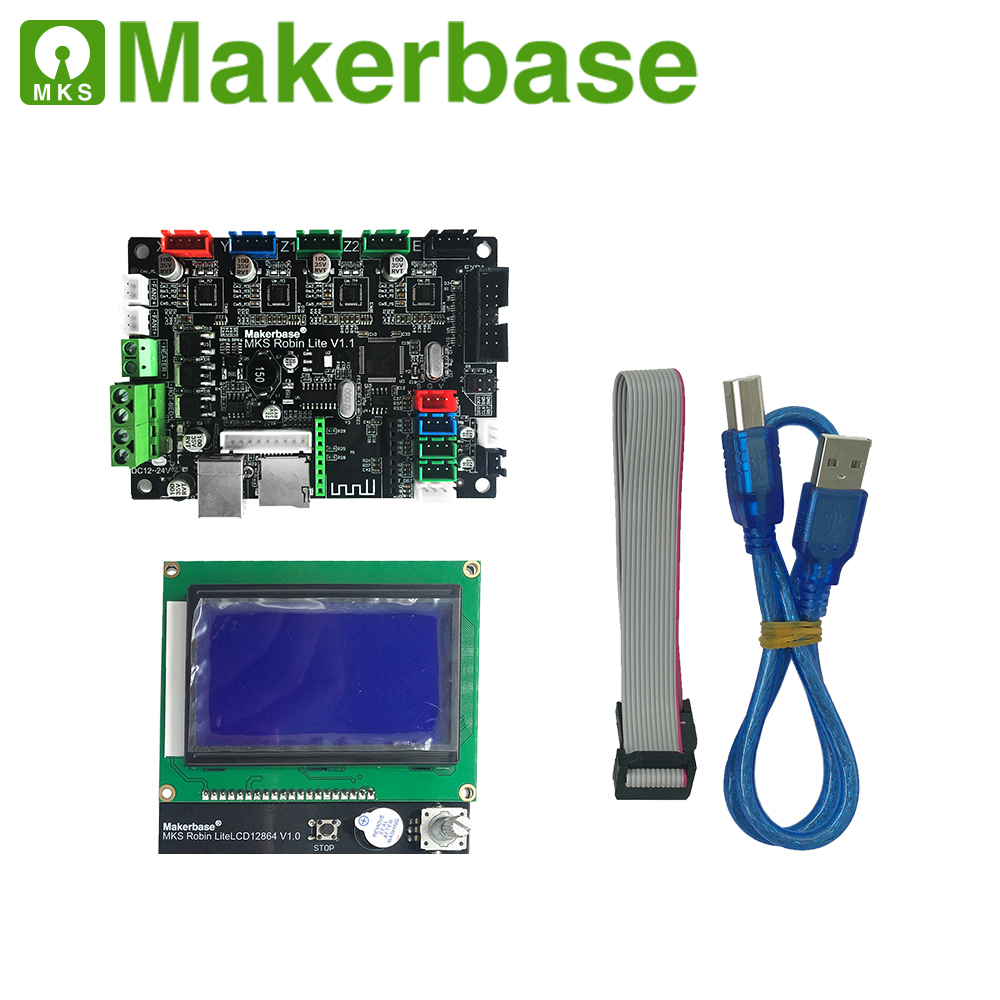 MAKERBASE 3D printer board STM32 MKS Robin lite mother board with LCD display closed source software