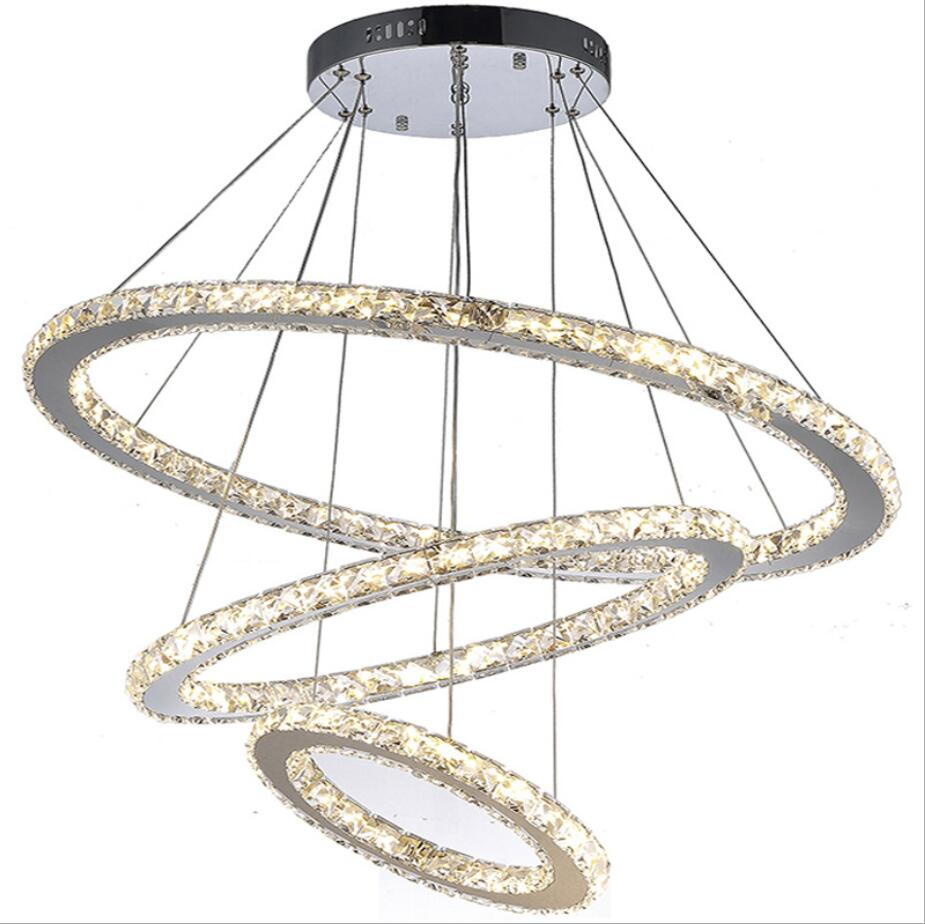 US local delivery Modern Crystal led Chandelier Lights Lamp For Living Room Cristal Lustre Chandeliers Lighting Pendant Hanging led crystal chandeliers lamp round ring hanging lights modern led crystal chandelier fixture for living room lobby ac110v 240v