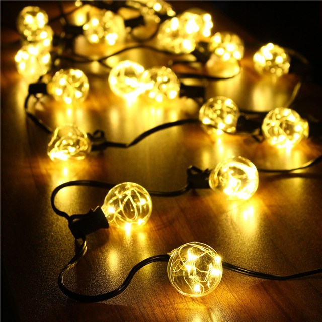Waterproof 18Ft G40 Globe LED String Lights Indoor Outdoor LED Fairy ...
