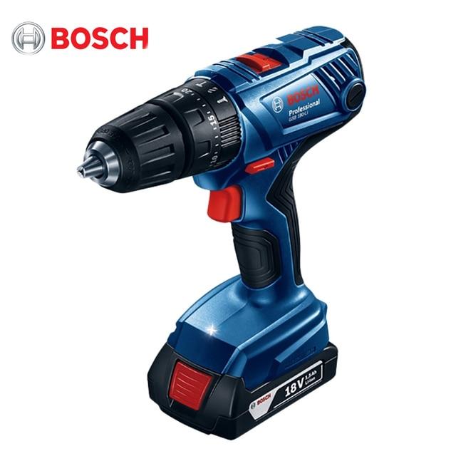 Дрель-шуруповерт аккумуляторная Bosch GSB 180-LI (напряжение 18 В, 2 скорости, 2 аккумулятора, Li-Ion батарея, Максимальный крутящий момент 54 Нм, подсветка)