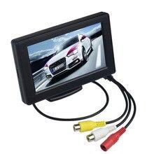 4,3 дюймов ЖК-монитор автомобиля дисплей обратная камера парковочная система для автомобиля заднего вида Мониторы