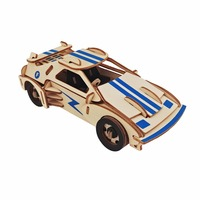 Sports Car Model DIY Kids 3D Wooden Puzzles Parent Child Interactive Wooden Toys Educational Toys For
