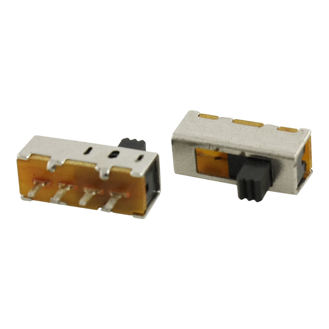 UXCELL 5 Pcs X Pcb 4 Pin OnOnOn 3 Position Sp3t 1P3t Mini Slide Switch 0.5A 50V Easy Structure Body 4 Terminal Vertical Handle