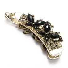 MYTL Women Banana Hair Clip Butterfly Black Resin Chic 108x31mm