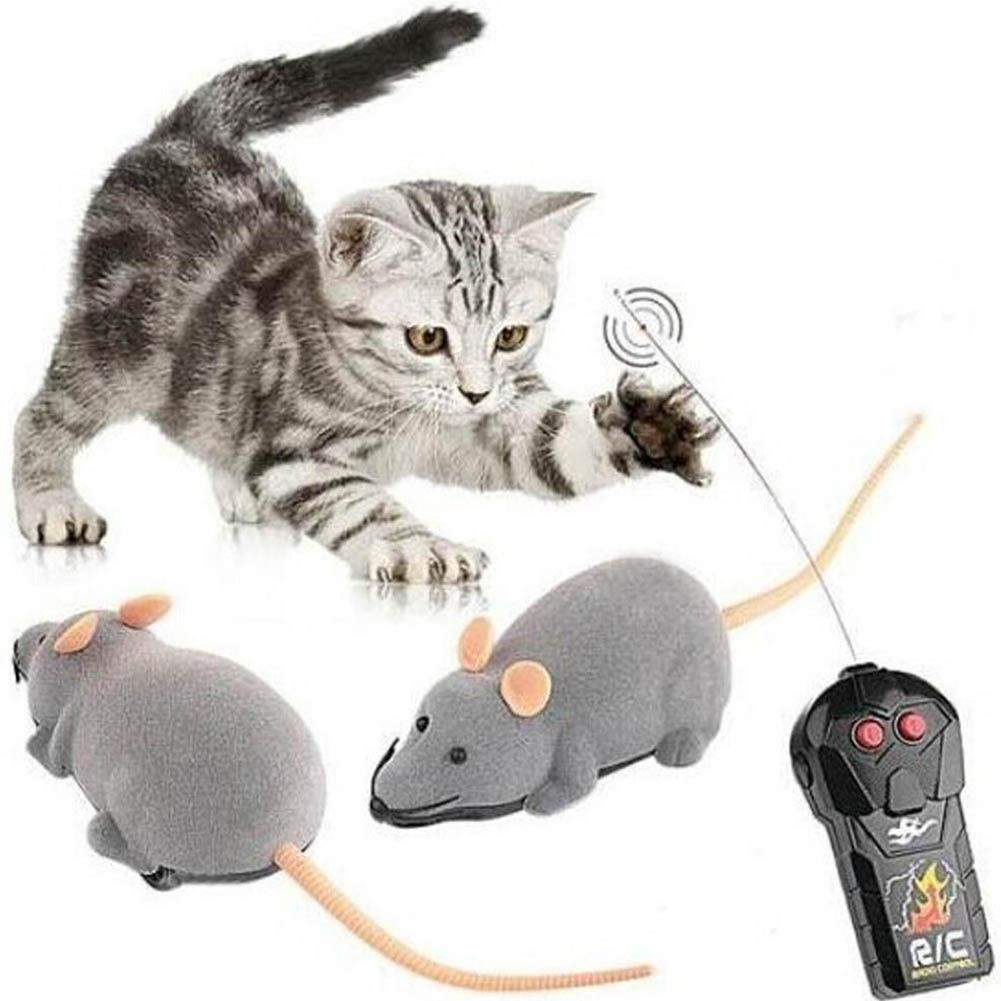 все цены на Color Random New RC Wireless Simulatio Remote Control Rat Mouse Toy For Cat Dog Pet Novelty
