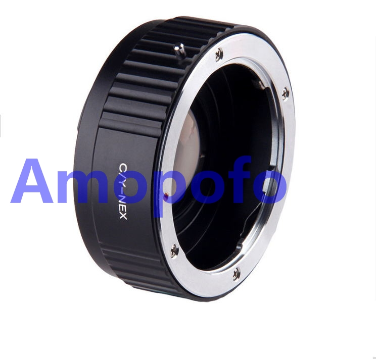 Amopofo CY-NEX Focal Reducer Speed Booster Adapter for Contax Yashica CY C/Y mount Lens to for Sony NEX E NEX-F3 NEX-7 NEX-5N N