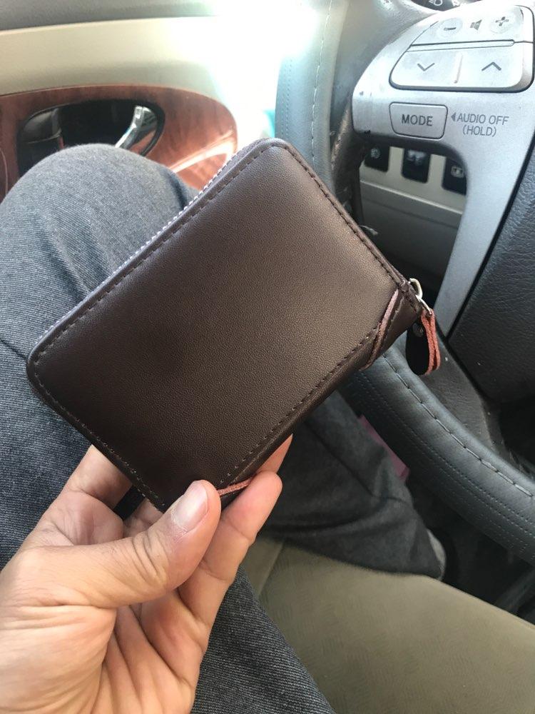 WESTCREEK merk lederen mannen / vrouwen rits kaarthouder minimalistische creditcardhouder Retro reizen portefeuilles door 22 kaartsleuf photo review