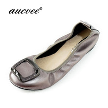 d07a99920b08 aucvee After Party Shoes Fashion Women Shoes Flats Portable Fold Up Bridal  Prom Ballerinas Flat Shoes
