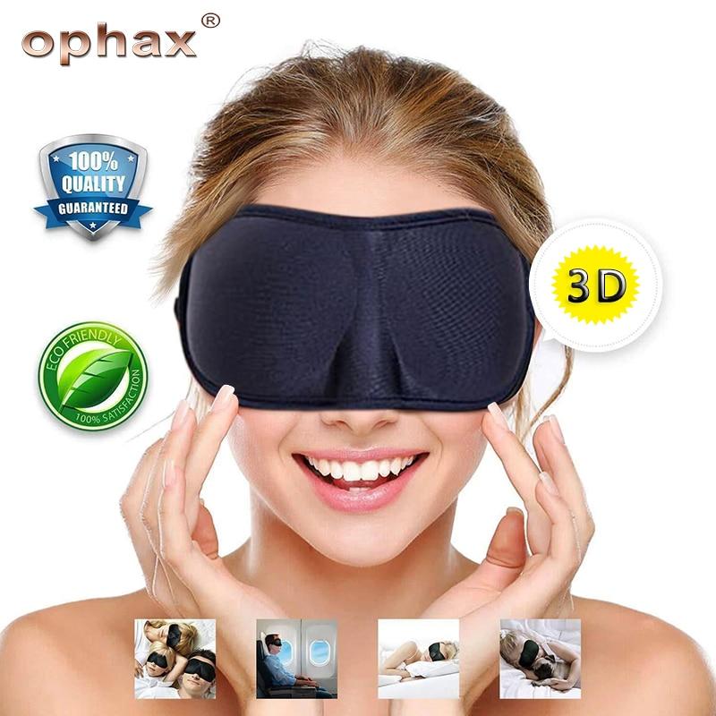 OPHAX Hohe Qualität 3D Schlaf Maske Weiche Memory Foam Eyeshade Schlafen Augen Maske Für Rest Hilfe Reise Blindfold Verband Auge patch