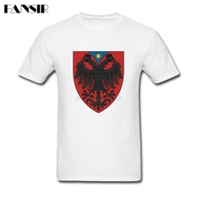Crazy Tshirt Men Boy Albanian Eagle Men T Shirts Short Sleeve Cotton Custom Group Clothing