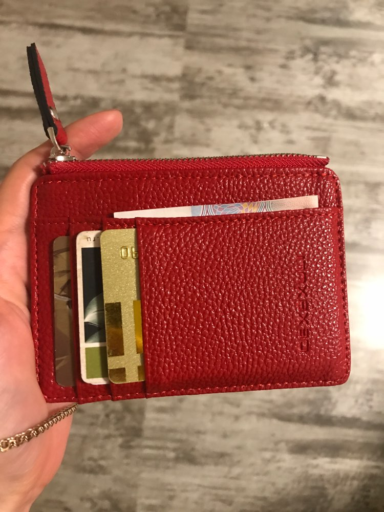 2019 Unisex wallet business card holder pu leather coin pocket bus card Organizer purse bag drop shipping men women multi-color photo review