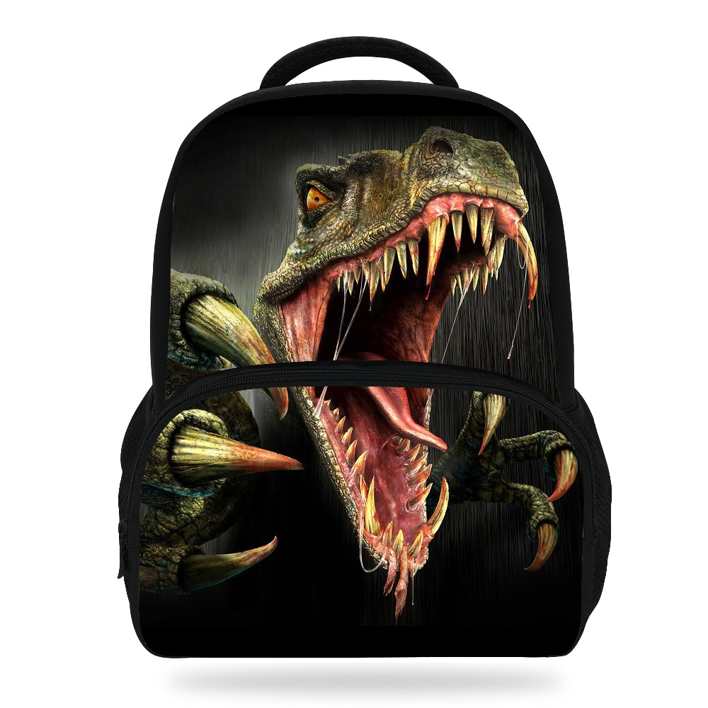 1ae4d162271 14Inch Hot Sale Kids Schoolbag Cool Animal Print Dinosaur Backpack For Boys  Tyrannosaurus Mochila Children Girls Teenagers Bag Tags: