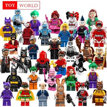 Single Sale Buzz Lightyear Batman Gingerbread Man Building Blocks Figures Toys for children Compatible legoed duplo superhero