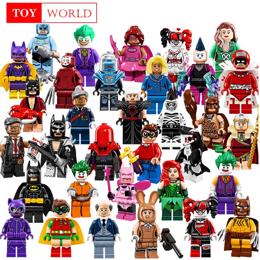 Single Sale Buzz Lightyear Batman Gingerbread Man Building Blocks Figures Toys for children Compatible with playmobil superhero