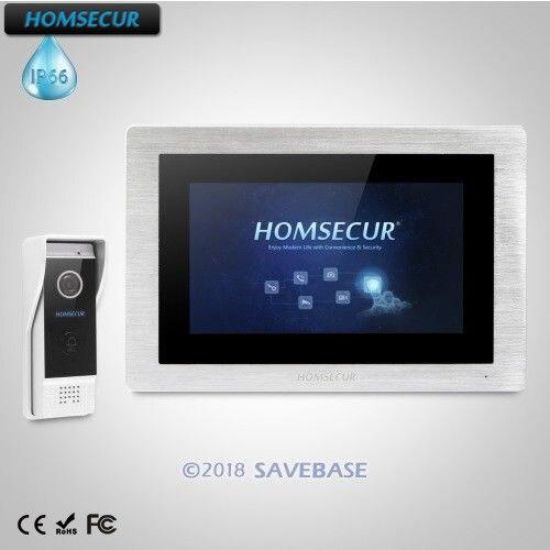 HOMSECUR 7 Wired Hands-free Video Door Entry Security Intercom+Black Camera  BC031-B +BM714-SHOMSECUR 7 Wired Hands-free Video Door Entry Security Intercom+Black Camera  BC031-B +BM714-S