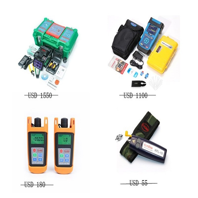 Optical fiber fusion splicer,OTDR,optical power meter,optical light source and visual flaut locater combos