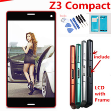 цены на 4.6''inch For Sony Xperia Z3 Compact D5803 D5833 LCD Display Touch Screen with Frame Digitizer Full Assembly+Adhesive+tools  в интернет-магазинах
