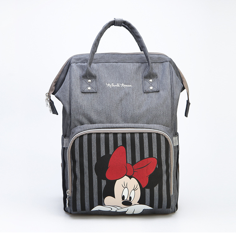 Disney Mickey Minnie Striped Best Diaper Bag Baby Bag Backpack Mummy  Maternity Care Large Capacity Nappy Bag USB Bottle Warmer-in Diaper Bags  from Mother ... ea63e7da6014
