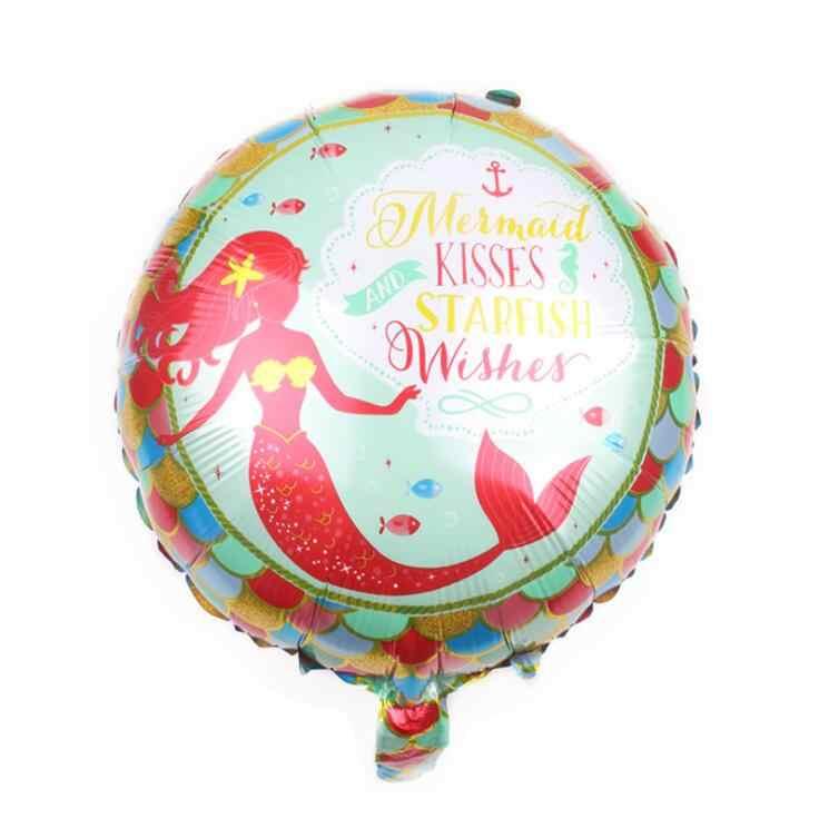 1 pcs 18 polegada balões dos desenhos animados pequena Sereia princesa Ariel brinquedos globo balão de hélio decorações da festa de aniversário crianças ar