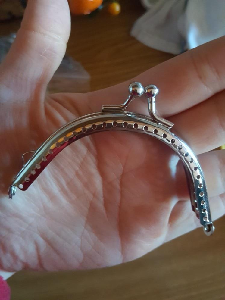 2019 1PC Metalen Frame Kiss Clasp Arch Voor Clutch Portemonnee Tas Silver Tone 6.5cm photo review