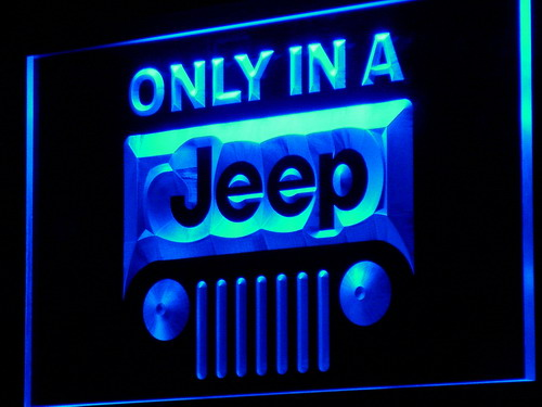 d134 Only in a Jeep LED Neon Sign