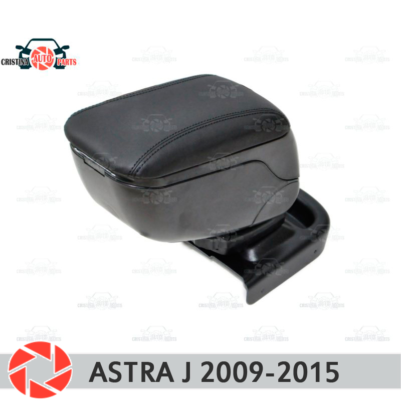For Opel Astra J 2009-2015 car armrest central console leather storage box ashtray accessories car styling for opel astra h 2004 2014 car armrest with inner storage box black color poah56