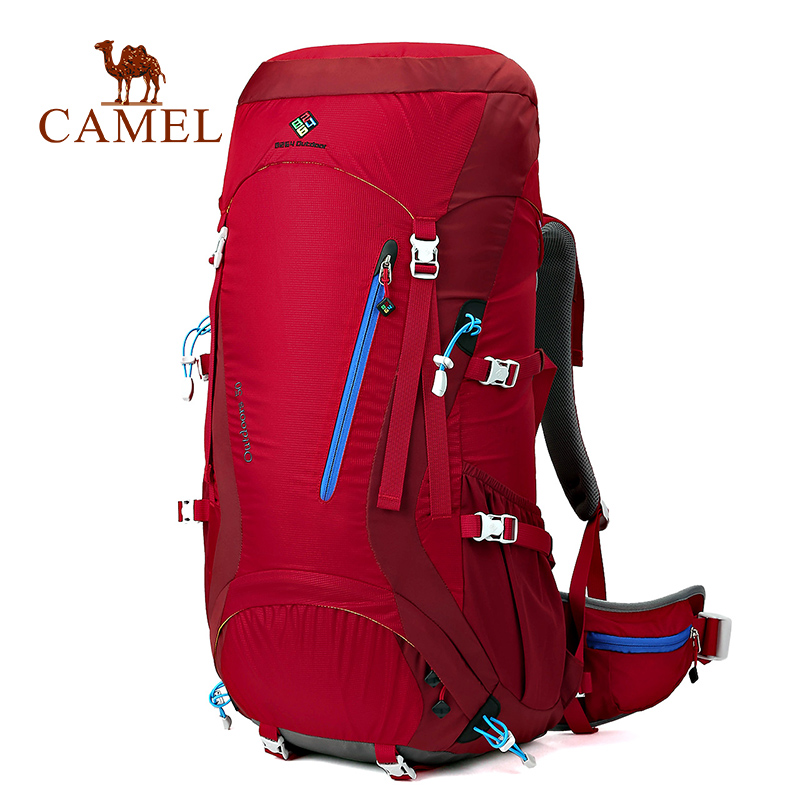 CAMEL 50L Men Women New Multi function Casual Sports Backpack Waterproof Bags For Hiking Traveling Outdoor