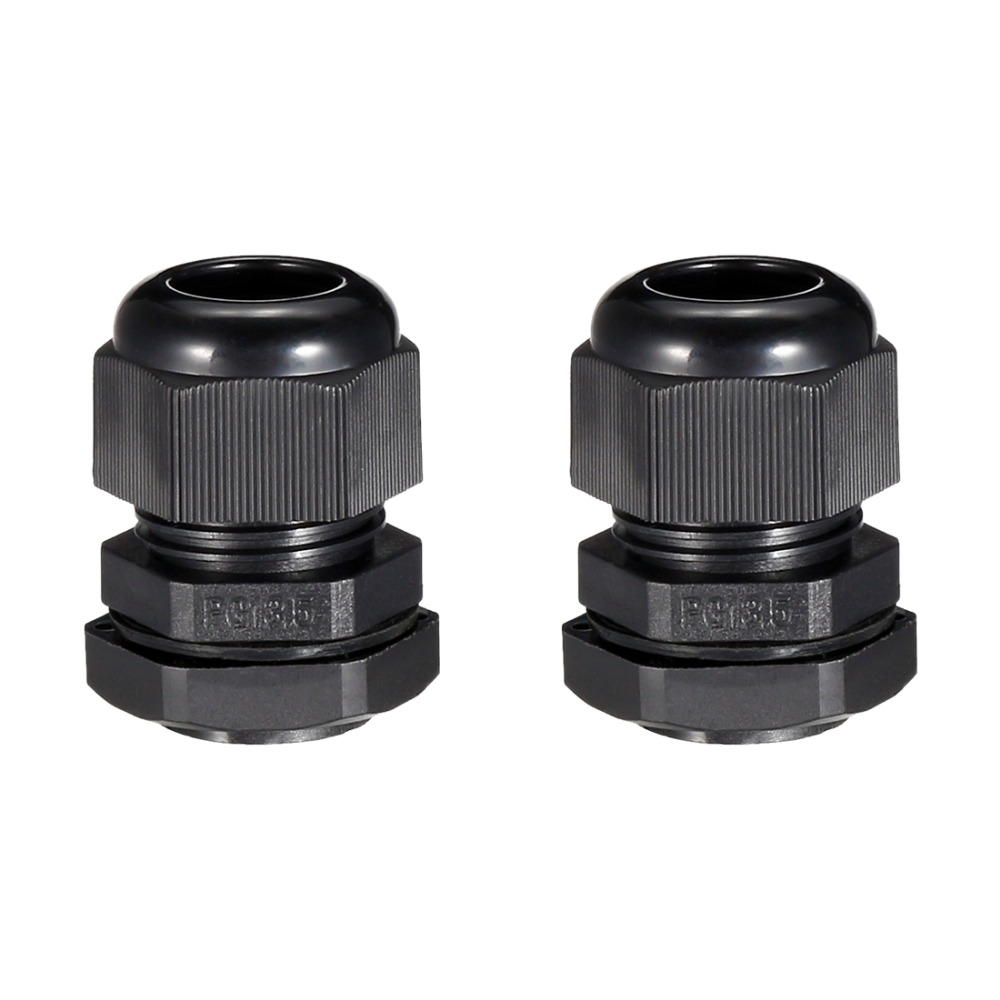 uxcell 5 x PG13.5 Plastic Cable Glands Fasteners for 6mm to 12mm Power Line