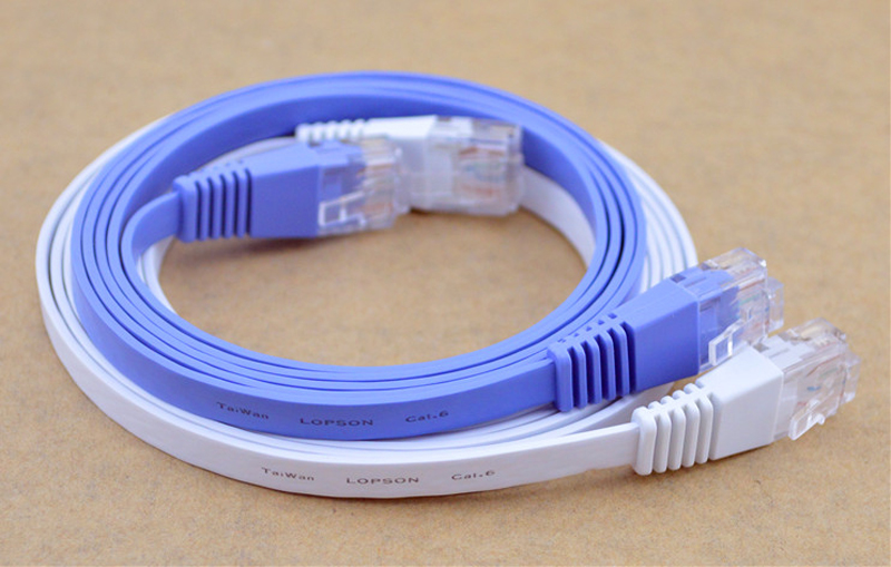 BFMore NEW 5M/16FT 10M/33FT 15M/49FT 20M/65.6FT 30M/98FT CAT6 Flat UTP Ethernet Patch LAN Cord White/Blue Network Cable RJ45 цена