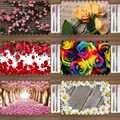 Outra 4 PCS Rosas Flores Lavável Tecido Estampado Floral Rosa Amarelo Vermelho Colocar tapetes de Mesa para Sala de Jantar Mesa Da Cozinha guardanapos Definir