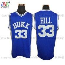2017 Dwayne Mens Cheap Throwback Basketball Jerseys #33 Grant Hill Jersey Duke University Stitched Basketball Shirts Blue White