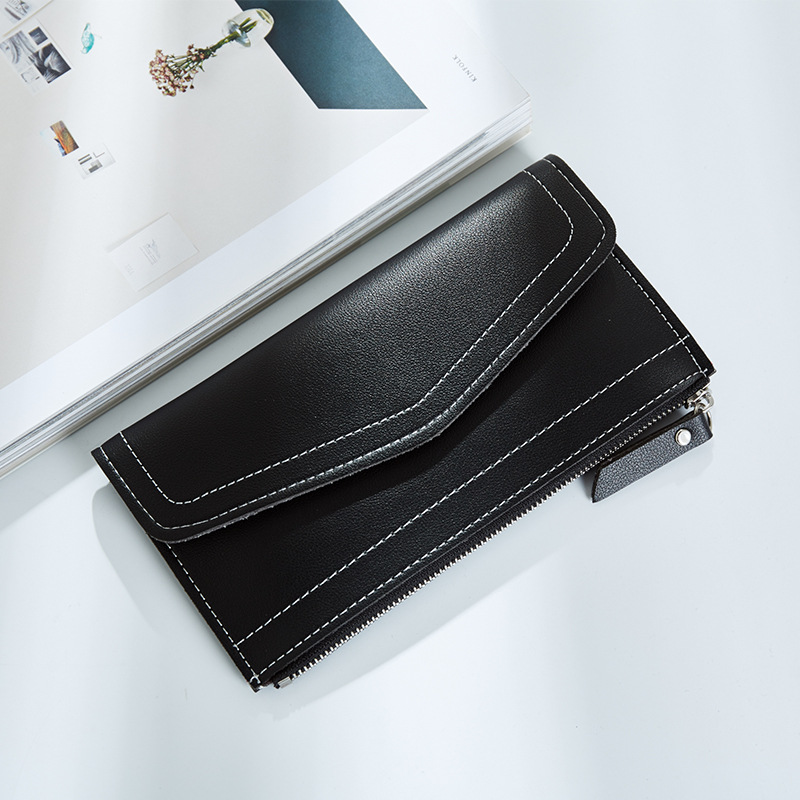 2018 Luxury  Leather Women Long Slim Wallet Zipper Female Purse Brand Clutch Phone Coin Photo Credit Card Holder Wristlet