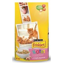 Набор сухой корм Friskies для котят с курицей, молоком и полезными овощами, , Пакет, 2 кг x 6 шт.