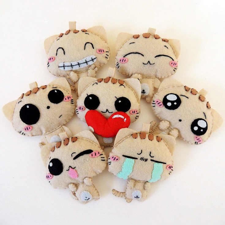 Mylb 7 шт., игрушки для шитья, сделай сам, бабаи, войлок, Бесплатная вырубка, войлок, материал, посылка, ручная работа, милая кукла для детей, рождественский подарок