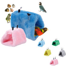 Zachte Pluche Snuggle Opknoping Cave Papegaai Schommel Speelgoed Kooi Hangmat Huisdier Vogel Stapelbed(China)