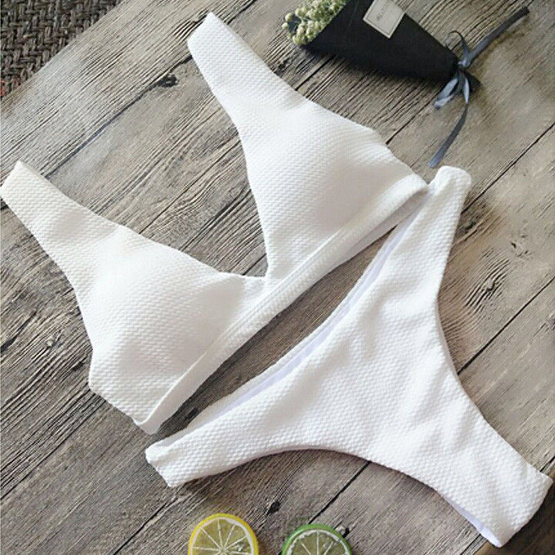 17 Summer Women Bandage Bikini Set Swim Clothes Push-up Padded Bra Swimsuit Bathing Suit Swimwear 3