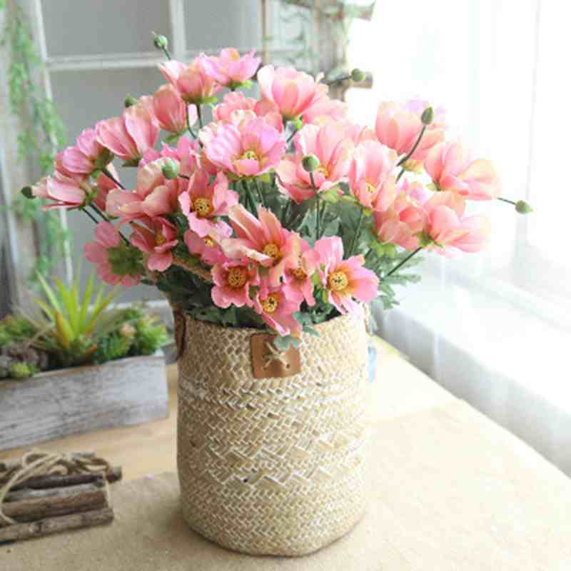 1PCS/Lot DIY Silk Decorative Flowers Artificial Flowers Fake Flower Cosmos Bouquet Fleur 42cm <font><b>Artificielle</b></font> Home Wedding Decorati image