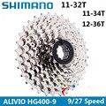 SHIMANO ALIVIO CS-HG400 K7 MTB Mountainbike Fahrrad teile 9 S Kassette Freilauf 9/27 Geschwindigkeiten Kettenrad Band 11-32 /34/36 T
