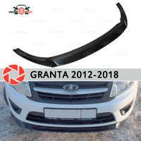 Séparateur sur le pare-chocs avant pour Lada Granta 2012-2018 accessoires de décoration en plastique ABS couvercle de plaque de réglage de style de voiture