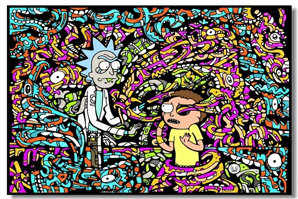 Custom Canvas Wall Murals Rick And Morty Poster Rick Morty