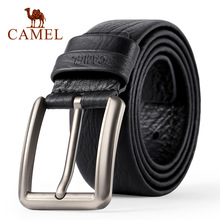 CAMEL Mens Belt fashion Genuine Leather Business Wild Casual Pin Buckl